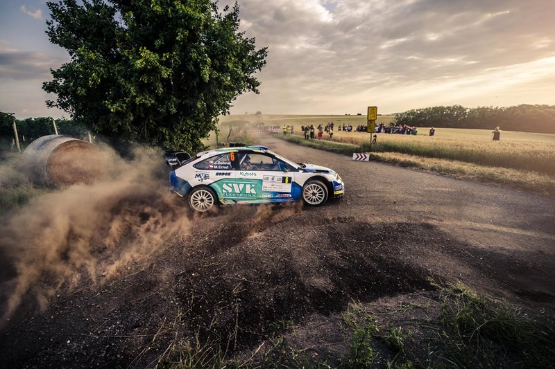 Jan Dohnal Ford Focus WRC při AGROTEC Petronas rally 2018.