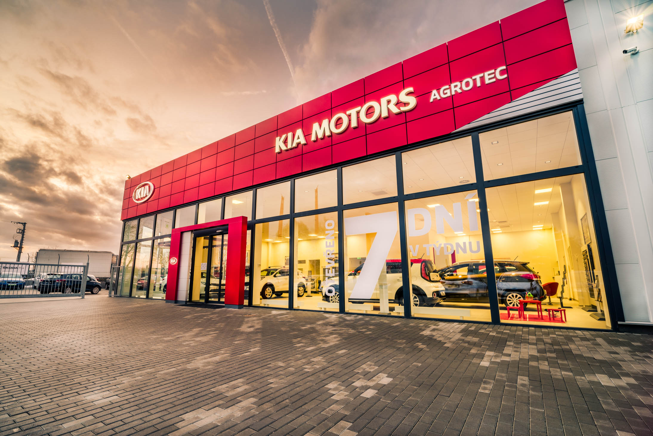 Red Cube showroom Kia v Brně.